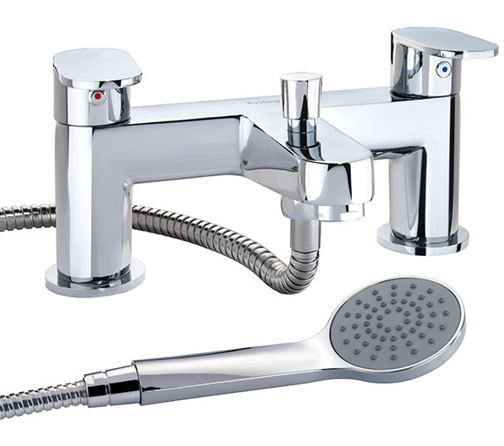 Twyford X70 Deck Mounted Bath Shower Mixer Tap - X705265CP