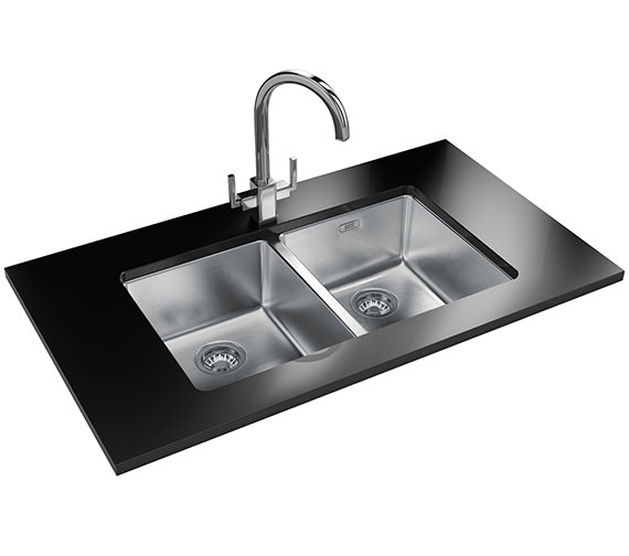 Franke Kubus Designer Pack KBX 120 34-34 Stainless Steel Sink And Tap