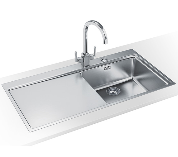 Franke Mythos Slim-Top DP MMX 211 Stainless Steel Kitchen Sink And Tap