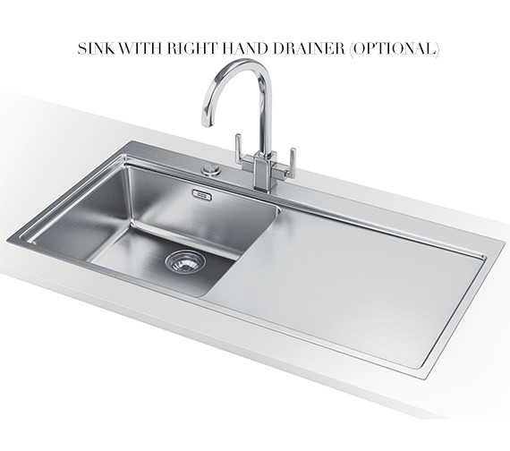 Alternate image of Franke Mythos Slim-Top DP MMX 211 Stainless Steel Kitchen Sink And Tap