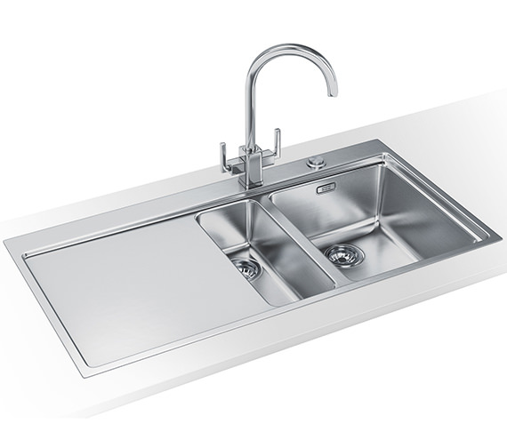 Franke Mythos Slim-Top DP MMX 251 Stainless Steel Kitchen Sink And Tap