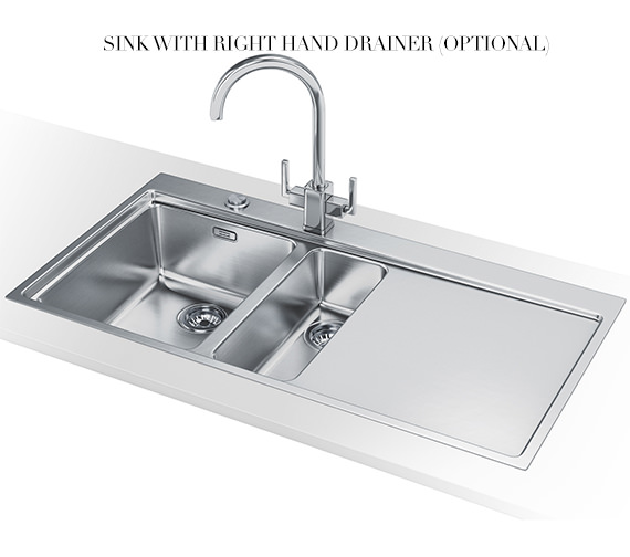 Alternate image of Franke Mythos Slim-Top DP MMX 251 Stainless Steel Kitchen Sink And Tap