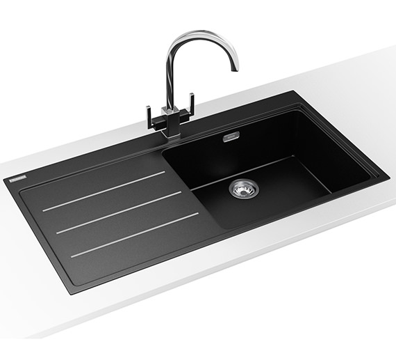 Franke Mythos Fusion Designer Pack MTF 611 Fragranite Onyx Sink And Tap