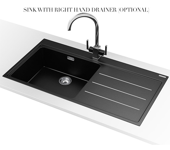 Alternate image of Franke Mythos Fusion MTF 611 Fragranite Onyx 1.0 Bowl Inset Kitchen Sink