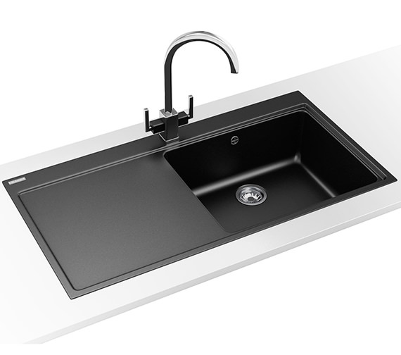Franke Mythos Designer Pack MTG 611 Fragranite Onyx Kitchen Sink And Tap