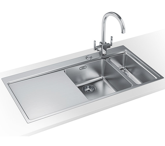 Franke Mythos Slim-Top DP MMX 261 Stainless Steel Kitchen Sink And Tap