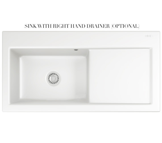 Additional image of Franke Mythos MTK 611 Ceramic White 1.0 Bowl Kitchen Inset Sink