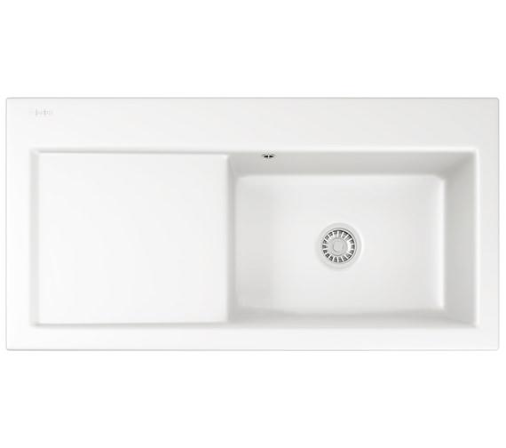 Franke Mythos MTK 611 Ceramic White 1.0 Bowl Kitchen Inset Sink
