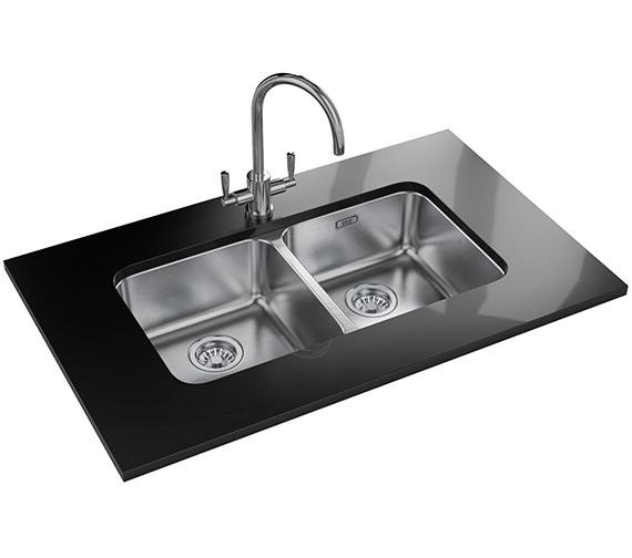 Franke Largo Sink : Franke Largo LAX 120 36-36 Stainless Steel 2 Bowl Undermount Sink ...
