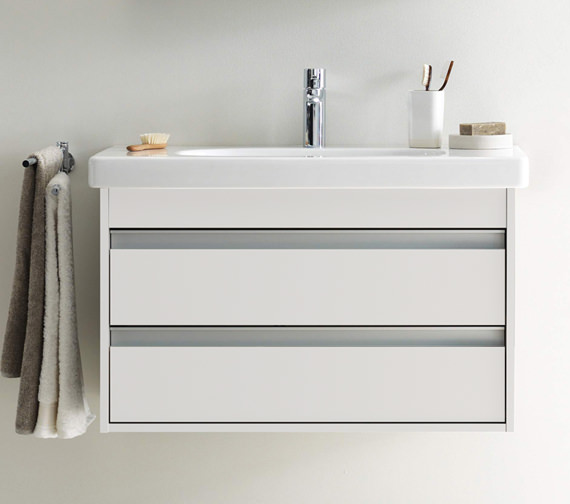 Duravit Ketho 1000mm Double Drawers Unit With Vero 1050mm Basin
