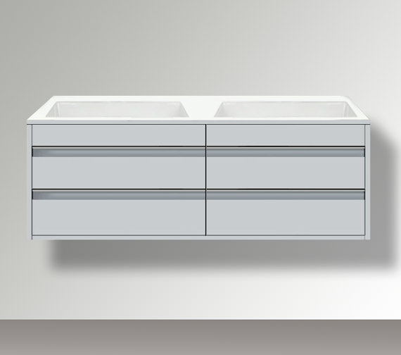Duravit Ketho 1400 x 550mm 2 Drawer Wall Mounted Unit For Undercounter Basin F-Bonded