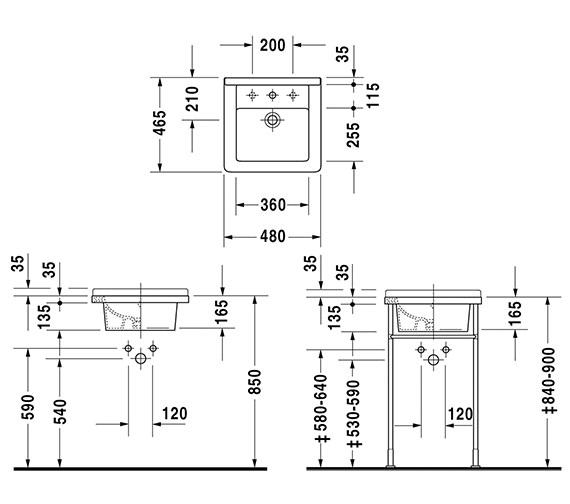 Technical drawing QS-V49564 / 0303480000
