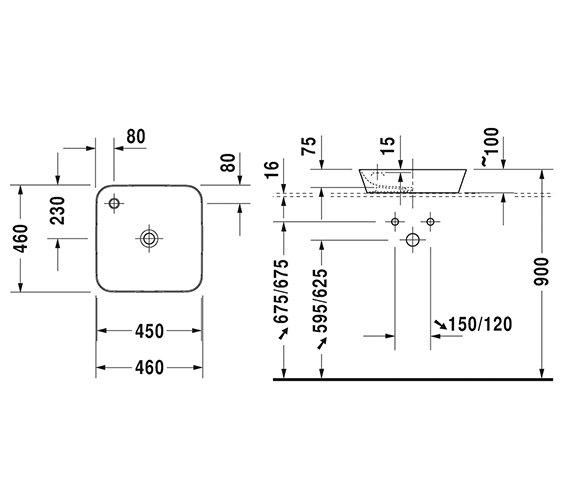 Technical drawing QS-V6326 / 2340460000