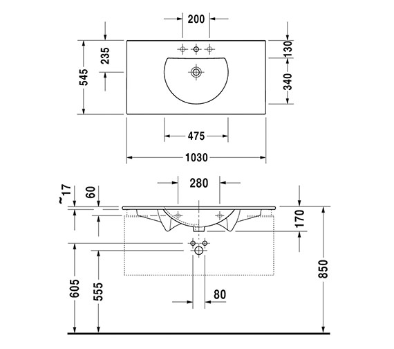 Technical drawing QS-V59274 / 0499100000