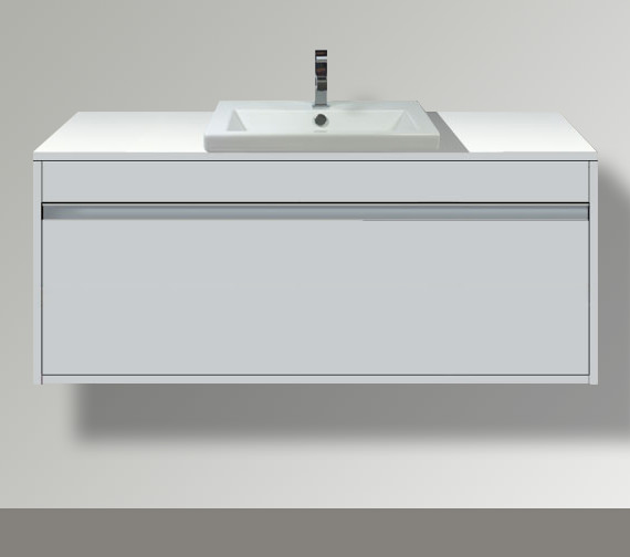 Duravit Ketho 550mm Depth Wall Mounted Single Drawer Unit For Vanity Basin Central