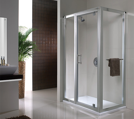 Alternate image of Twyford Geo6 Shower Enclosure Side Panel 800mm - G64400CP