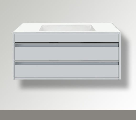 Duravit Ketho 550mm Depth Wall Mounted 2 Drawer Unit For Undercounter Basin F-Bonded