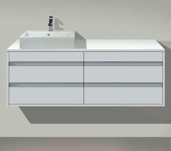 Duravit Ketho Left Cut-Out 4 Drawers Unit For Countertop Basin