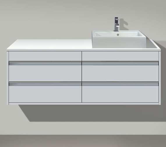 Duravit Ketho Right Cut-Out 4 Drawers Unit For Countertop Basin