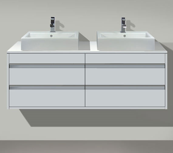 Duravit Ketho Both Cut-Out 4 Drawers Unit For Countertop Basin