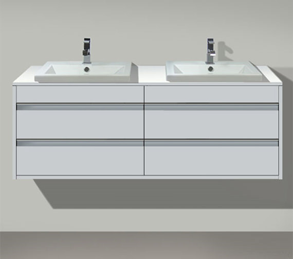 Duravit Ketho Both Side Cut-Out 4 Drawers Unit For Vanity Basin