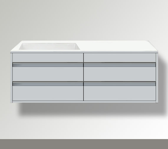 Duravit Ketho Left Hand Cut-Out 4 Drawers Unit For Bonded Basin