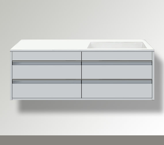 Duravit Ketho Right Hand Cut-Out 4 Drawers Unit For Bonded Basin