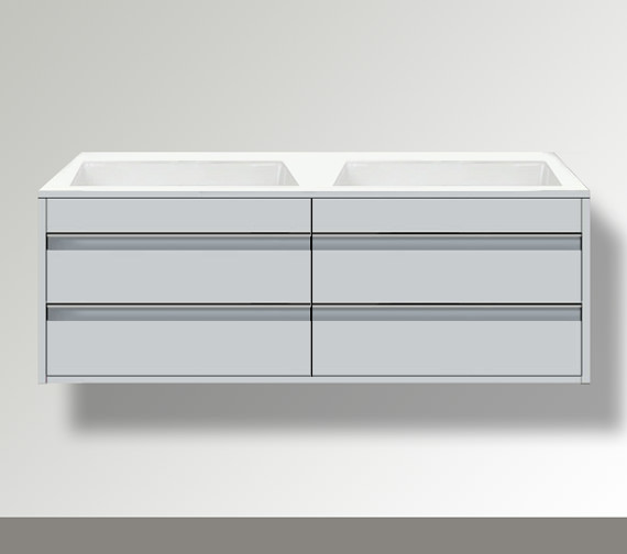 Duravit Ketho 1400 x 550mm Both Side Cut-Out Unit For Undercounter Basin F-Bonded