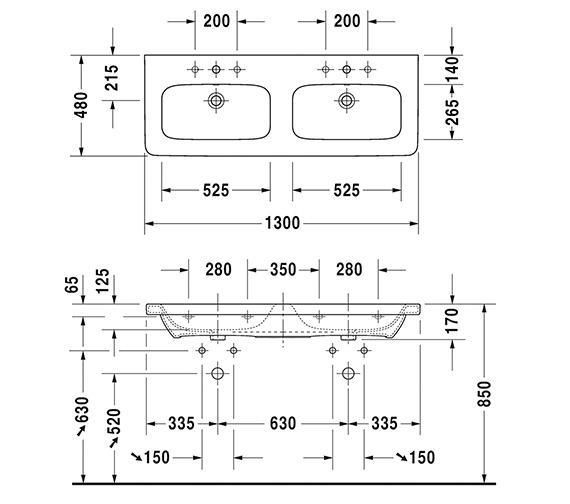 Technical drawing QS-V6329 / 2338130000
