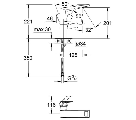 Technical drawing QS-V55854 / 23112000
