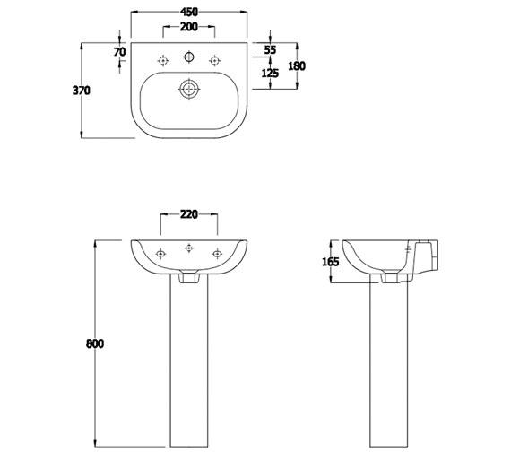 Technical drawing QS-V81312 / EC1007