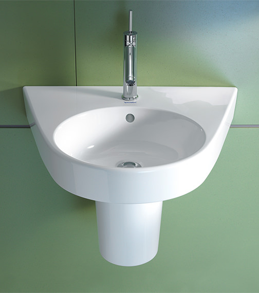 Additional image of Duravit Starck 2 650 x 500mm 1 Taphole Washbasin - 2323650000