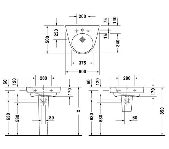 Technical drawing QS-V6337 / 2323600000