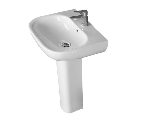 Essential Lily 550mm Basin With 1 Tap Hole