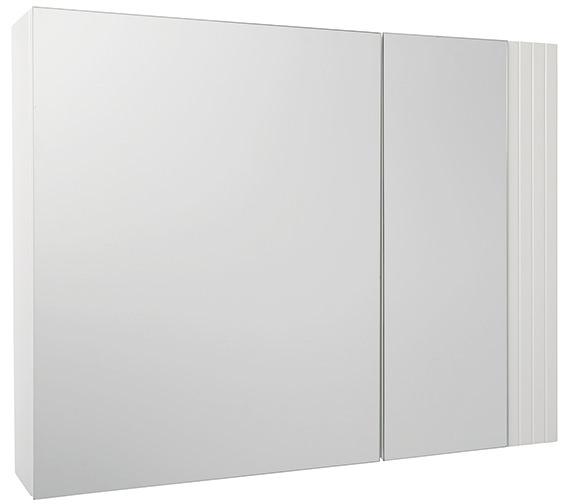 croydex white double door bi view cabinet wc410222