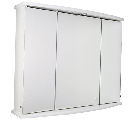 Croydex Ashstead Triple Door Tri-View Illuminated Cabinet - WC146222E