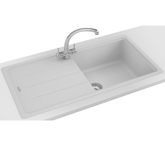 Alternate image of Franke Basis Propack BFG 611-970 Polar White Fragranite Kitchen Sink And Tap