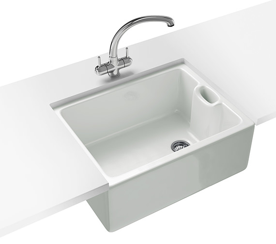 Franke Belfast Propack BAK 710 Ceramic White Kitchen Sink And Tap
