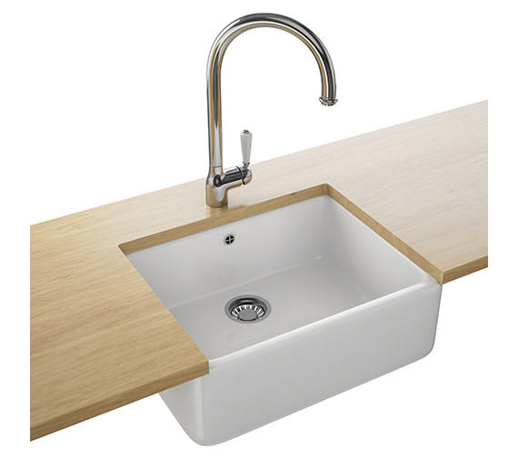 Franke Belfast Designer Pack VBK 710 Ceramic White Kitchen Sink And Tap