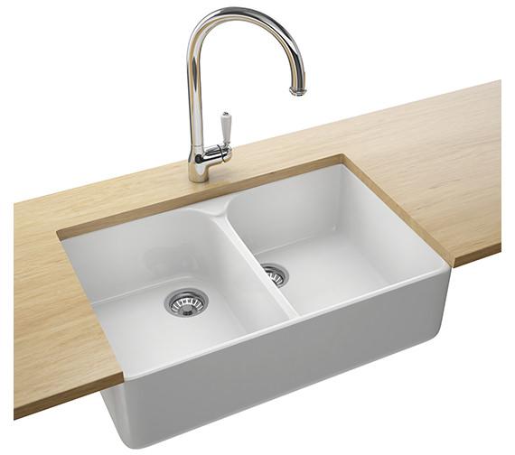 Franke Belfast Designer Pack VBK 720 Ceramic White Kitchen Sink And Tap