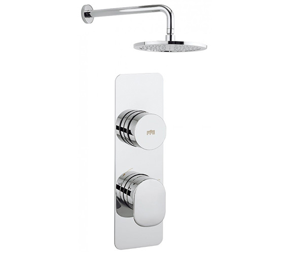 Crosswater Dial - Pier 1 Control Valve With Shower Head And Wall Arm