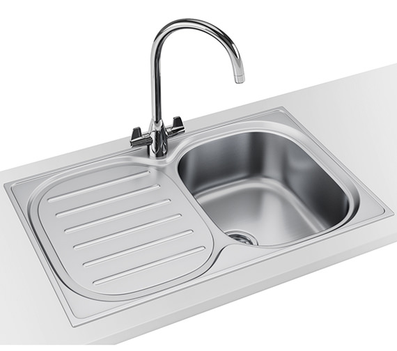 Franke Compact Plus DP CPX P 611 780 Stainless Steel Sink And Tap
