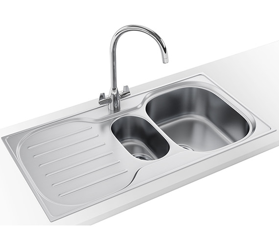 Franke Compact Plus DP CRX P 651 Stainless Steel Kitchen Sink And Tap
