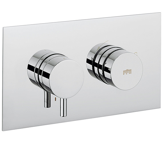 Additional image of Crosswater Dial Kai Lever Thermostaic Portrait Trim Shower Valve