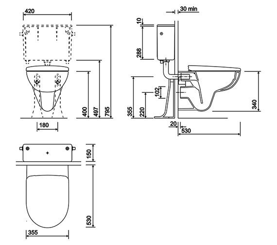 Technical drawing QS-V10722 / E11798WH