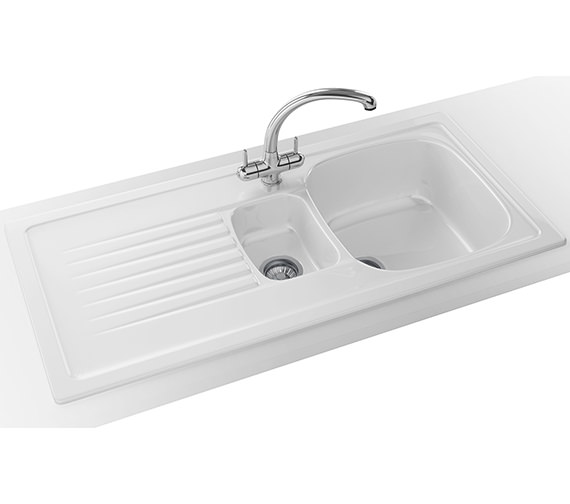 Franke Elba Elk 651 Ceramic White 1 5 Bowl Inset Sink