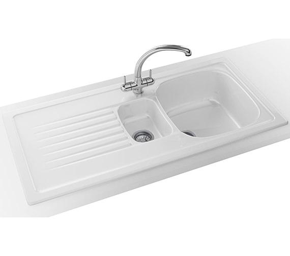 Franke Elba Propack ELK 651 Ceramic White Kitchen Inset Sink And Tap