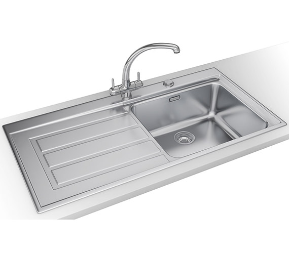 Franke Epos Propack EOX 611 Stainless Steel Kitchen Sink And Tap