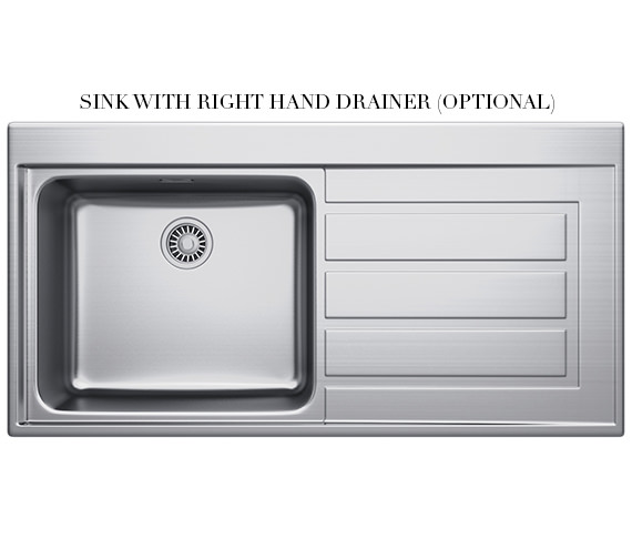 Alternate image of Franke Epos Propack EOX 611 Stainless Steel Kitchen Sink And Tap