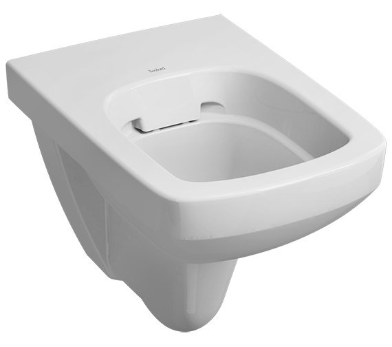 Twyford E100 Square Rimfree Flushwise Wall Hung WC Pan 530mm